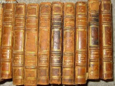 Collection, complète en  48 volumes, des oeuvres de Balzac.