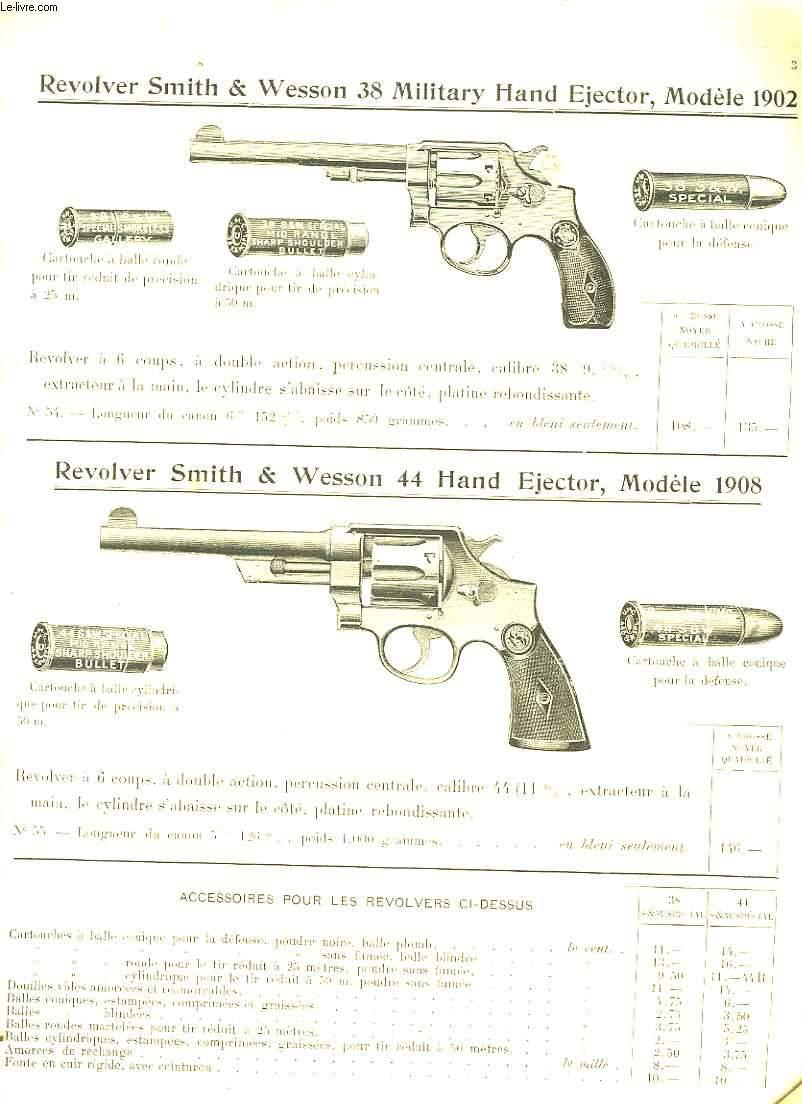 Catalogue d'armes à feu.