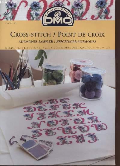 CROSS-STITCH / POINT DE CROIX anemones sampler / abécédaire anémones