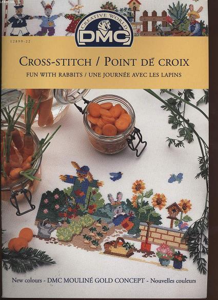 CROSS-STITCH / POINT DE CROIX  fun with rabbits / une journée avec les lapins