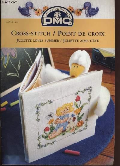 CROSS-STITCH / POINT DE CROIX ; Juliette loves summer / Juliette aime l'été