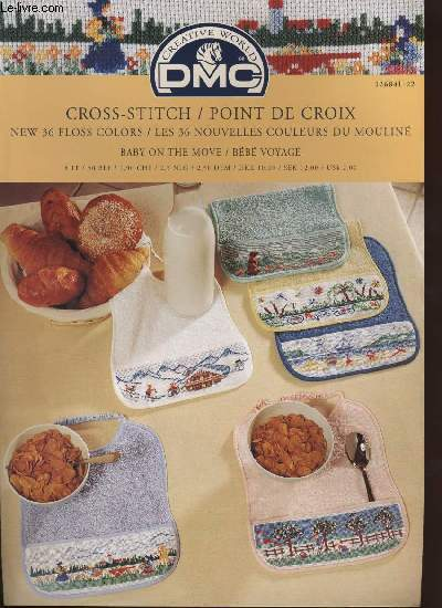 CROSS-STITCH / POINT DE CROIX ; baby on the move / bébé voyage
