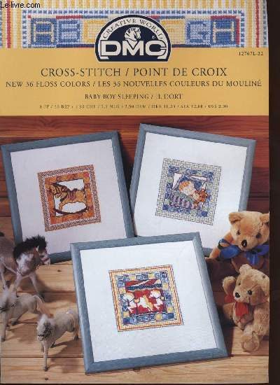 CROSS-STITCH / POINT DE CROIX ; baby boy sleeping / il dort