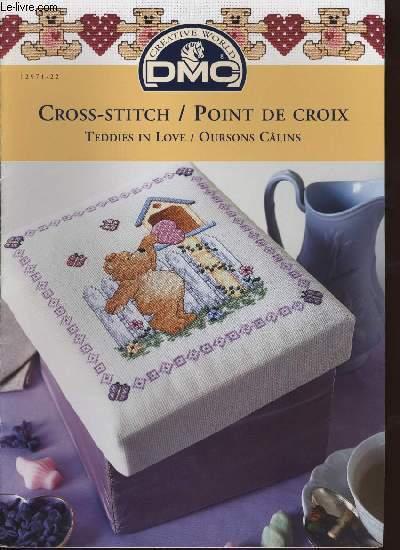 CROSS-STITCH / POINT DE CROIX ; Teddies in love / Oursons câlins