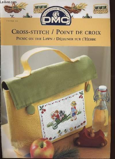 CROSS-STITCH / POINT DE CROIX ; picnic on the lawn / déjeuner sur l'herbe