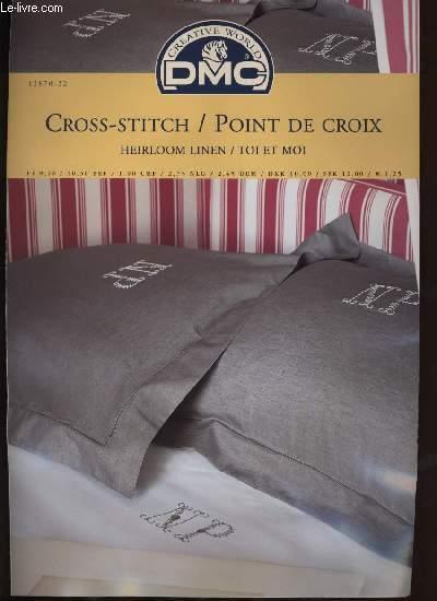 CROSS-STITCH / POINT DE CROIX heirloom linen / toi et moi