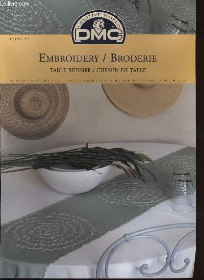 EMBROIDERY / BRODERIE table runner / chemin de table