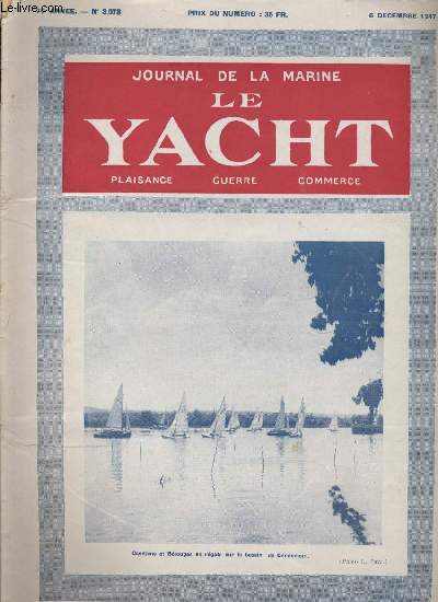 JOURNAL DE LA MARINE LE YACHT N° 3.078