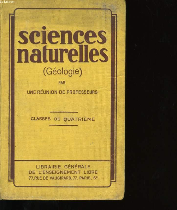 SCIENCES NATURELLES.