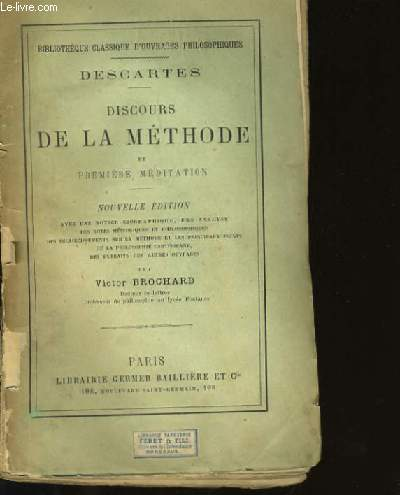 DISCOURS DE LA METHODE ET PREMIERE MEDIDATION.