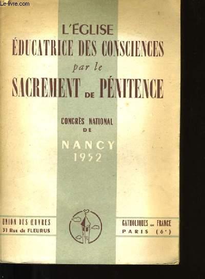L'EGLISE EDUCATRICE DES CONSCIENCES PAR LE SACREMENT DE PENITENCE.