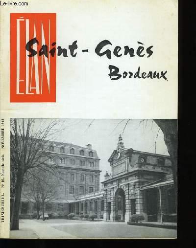 ELAN SAINT-GENES BORDEAUX. N°10 .