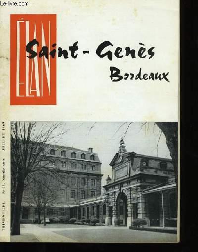 ELAN SAINT-GENES BORDEAUX. N°13 .