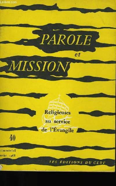 PAROLE ET MISSION N°40.
