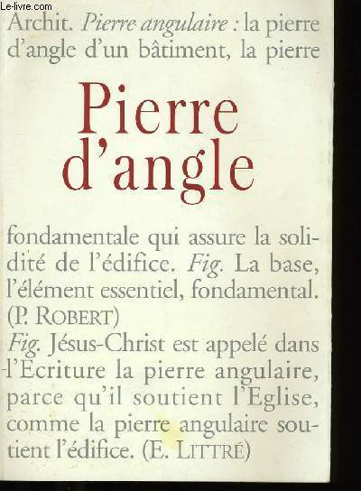PIERRE D'ANGLE N°1.