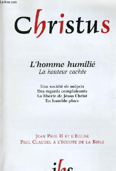 L'HOMME HUMILIE. N° 208.