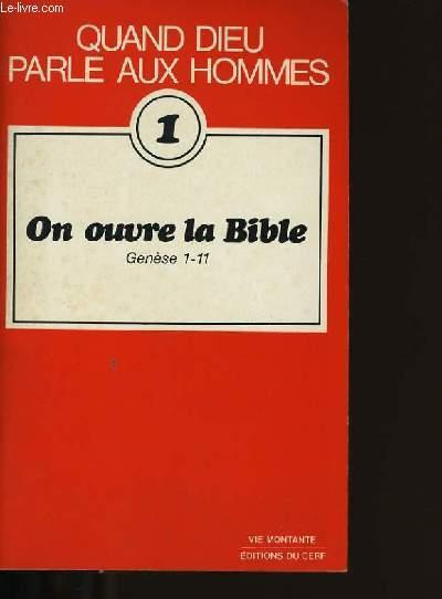 ON OUVRE LA BIBLI.