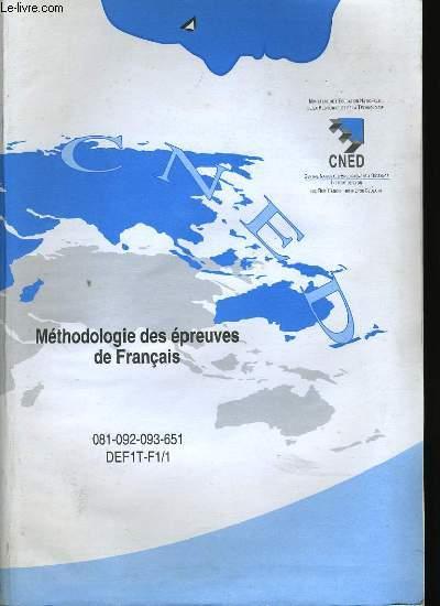 METHODOLOGIE DES EPREUVES DE FRANCAIS + METHODOLOGIE DU RESUME DE TEXTE.