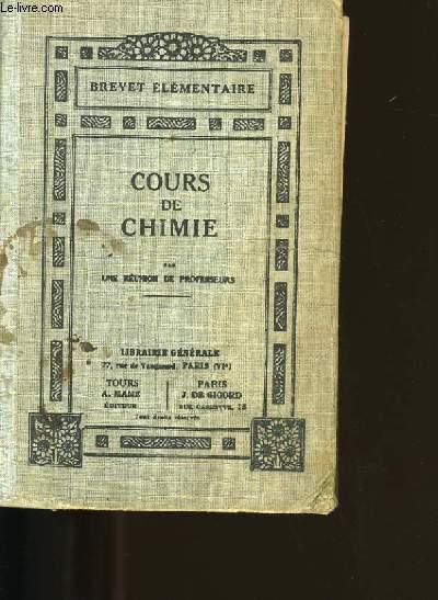 COURS DE CHIMIE.