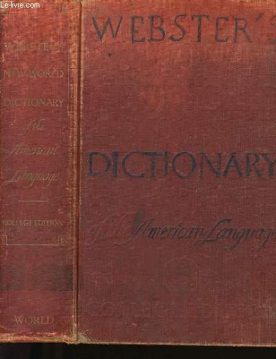 WEBSTER'S NEW WORLD DICTIONARY OF THE AMERICAN LANGUAGE.