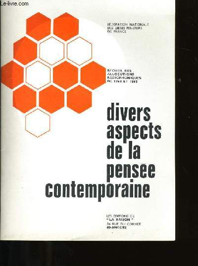 DIVERS ASPECTS DE LA PENSEE CONTEMPORAINE.