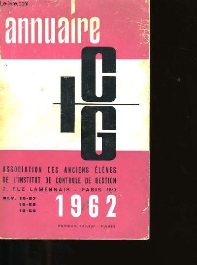 ANNUAIRE IGG.