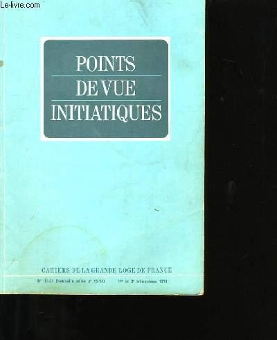 POINTS  DE VUE INITIATIQUES N°33-34.