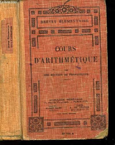 COURS D'ARITHMETIQUE N°156.
