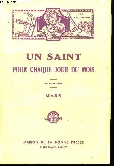 UN SAINT POUR CHAQUE JOUR DU MOIS. MARS .