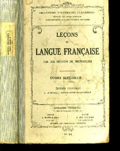 LECONS DE LANGUE FRANCAISE N°70.