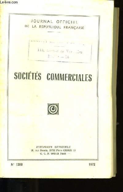 JOURNAL OFFICIEL DE LA REPUBLIQUE FRANCAISE. SOCIETES COMMERCIALES.