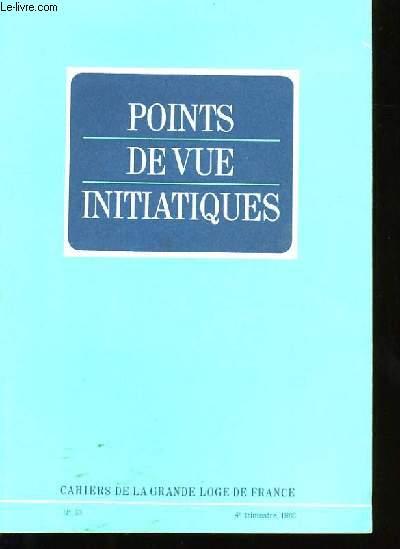 POINTS DE VUE INITIATIQUES N°63.