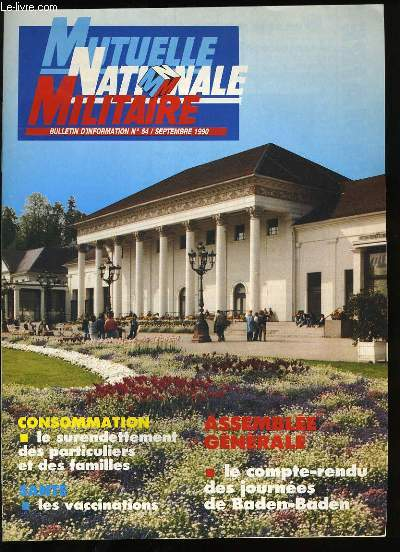MUTELLE NATIONALE MILITAIRE N°54.