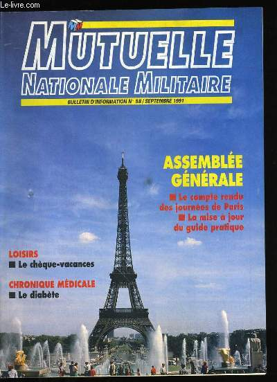 MUTELLE NATIONALE MILITAIRE N°58.