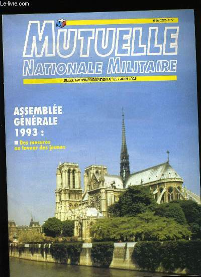 MUTELLE NATIONALE MILITAIRE N°65.