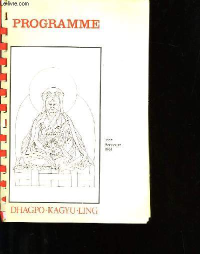 PROGRAMME DHAGPO-KAGYU-LING.