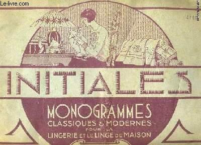 INITIALES. MONOGRAMMES CLASSIQUES ET MODERNES POUR LA LINGERIE ET LE LINGE DE MAISON. N°3.