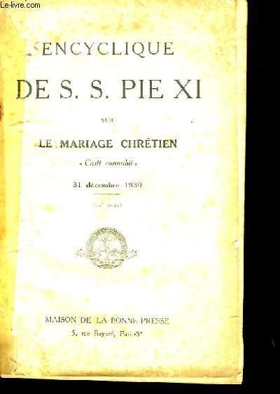 ENCYCLIQUE DE S.S. PIE XI.