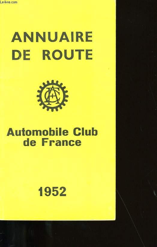 ANNUAIRE DE ROUTE.