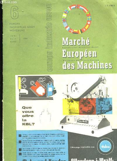 MARCHE EUROPEEN DES MACHINES.
