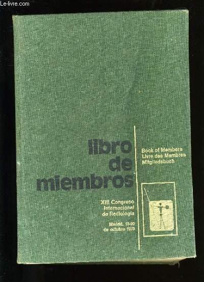 LIBRO DE MIEMBROS.