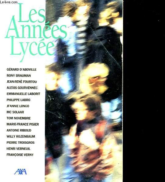 LES ANNEES LYCEE.