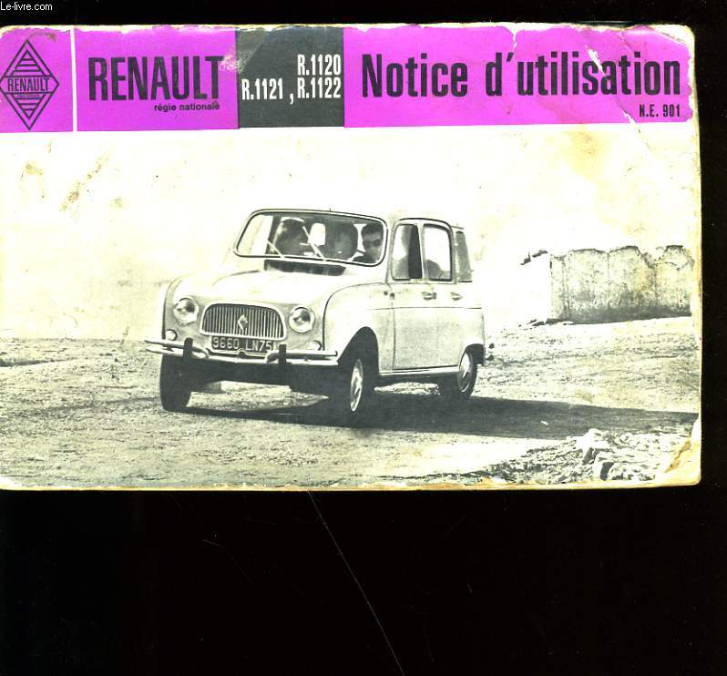 RENAULT. NOTICE D'UTILISATION.