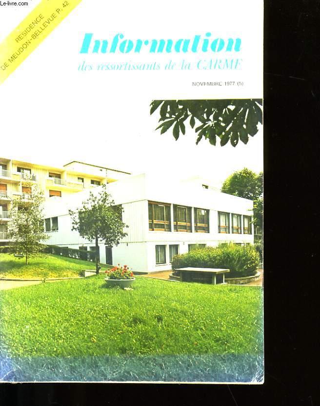INFORMATION DES RESSORTISSANTS DE LA CARMF.