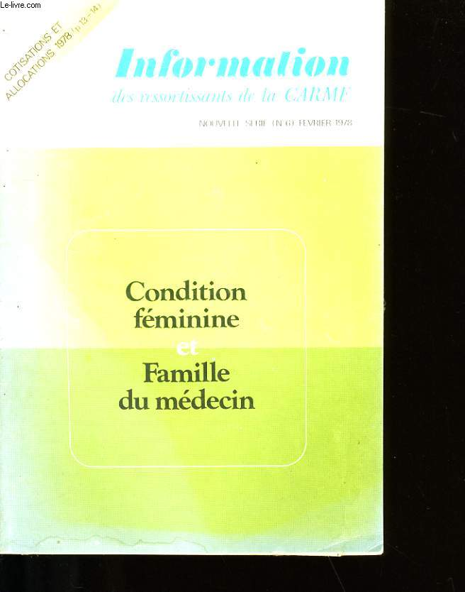 INFORMATION DES RESSORTISSANTS DE LA CARMF N°6.