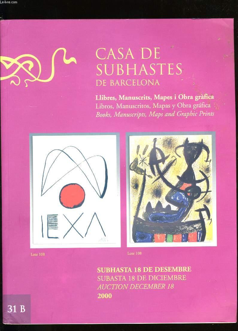CASA DE SUBHASTES DE BARCELONA.