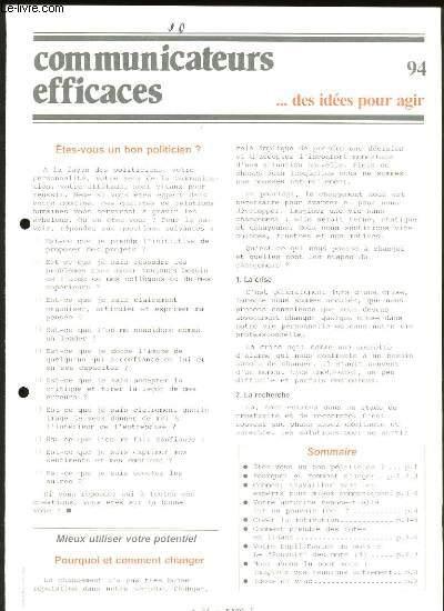 COMMUNICATEURS EFFICACES DES IDEES POUR AGIR. N° 94.