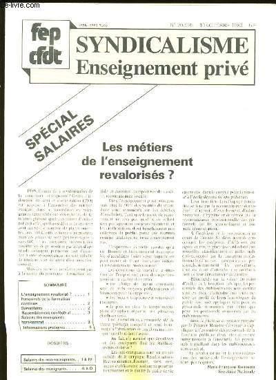 SYNDICALISME. ENSEIGNEMENT PRIVE N° 202.