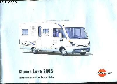 CATALOGUE DE CAMPING-CAR. CLASSE LUXE 2005.