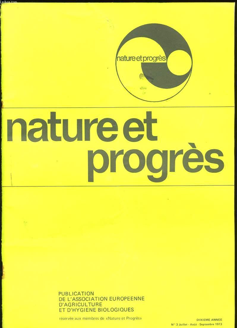 NATURE ET PROGRES. N°3.